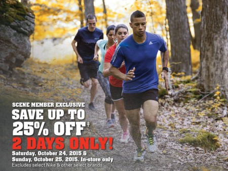 Sport Chek Save up to 25 Off with SCENE Card (Oct 24-25)