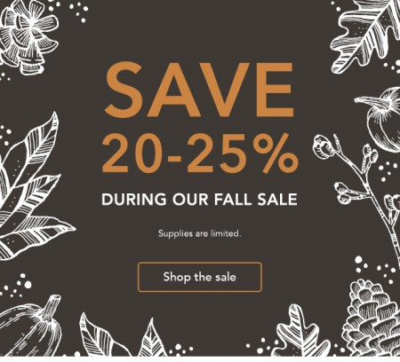 Starbucks Store Fall Sale - Save 20-25 Off Fall Items