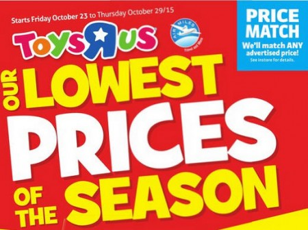 Toys R Us Lowest Prices of the Season (Oct 23-29)
