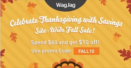 WagJag Spend $60 and Get $10 Off Promo Code (Oct 2-8)