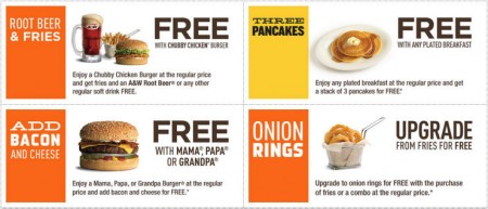 A&W Canada New Printable Coupons + Free Root Beer Coupon (Until Nov 22)