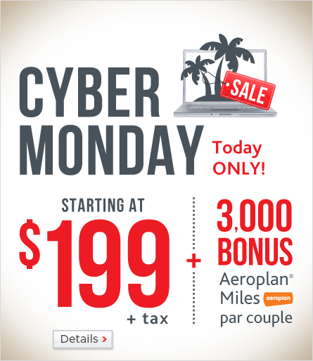 Air Canada Vacation Cyber Monday Sale - Up to 40 Off Vacation Packages (Book by Nov 30)