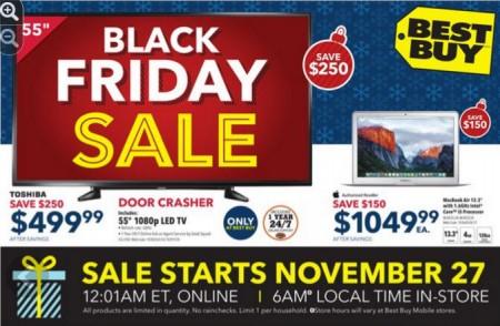 Best Buy Black Friday Sneak Peek Flyer (Nov 27-30)