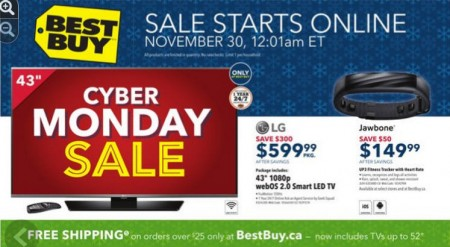 Best Buy Cyber Monday Sale (Nov 30)