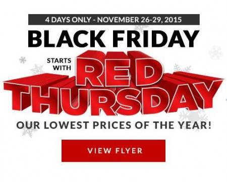 Canadian Tire Red Thursday & Black Friday Sale - Lowest Prices of the Year (Nov 26-29)