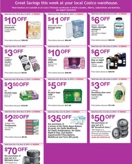 Costco Weekly Handout Instant Savings Coupons West (Nov 2-8)