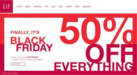 GAP Black Friday Sale - 50 Off Everything Promo Code (Nov 26-27)