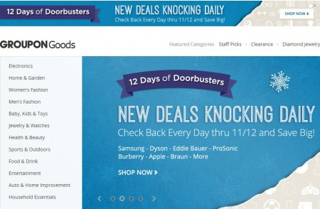 GROUPON 12 Days of Doorbusters - New Deals Daily Nov 1-12