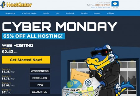HostGator Cyber Monday - 65 Off All Web Hosting Packages (Nov 30)