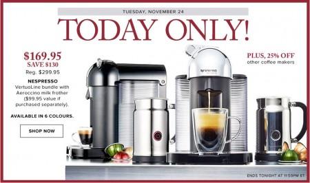 Hudson's Bay One Day Sales - 43 Off Nespresso VertuoLine Bundle (Nov 24)