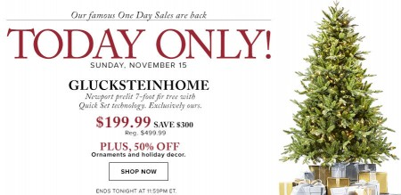 Hudson's Bay One Day Sales - 60 Off Glucksteinhome Prelit Tree 50 Off Ornaments and Holiday Decor (Nov 15)