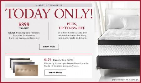 Hudson's Bay One Day Sales - 70 Off Sealy Posturepedic Proback Mattress Set (Nov 22)