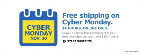 IKEA Cyber Monday - Free Shipping on Online Orders (Nov 30)