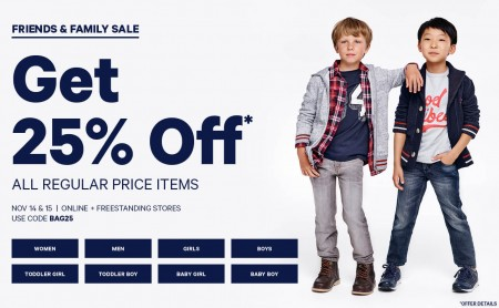 Joe Fresh Friends & Family Sale - 25 Off All Regular Priced Items (Nov 14-15)