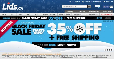 Lids Black Friday Sale - 35 Off + Free Shipping (Nov 25-27)