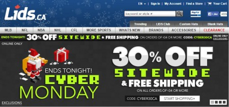 Lids Cyber Monday Sale - 30 Off Sitewide Promo Code + Free Shipping (Nov 30)