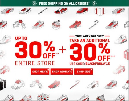 PUMA Black Friday Sale - Up to 30 Off + Extra 30 Off Promo Code + Free Shipping (Nov 25-29)