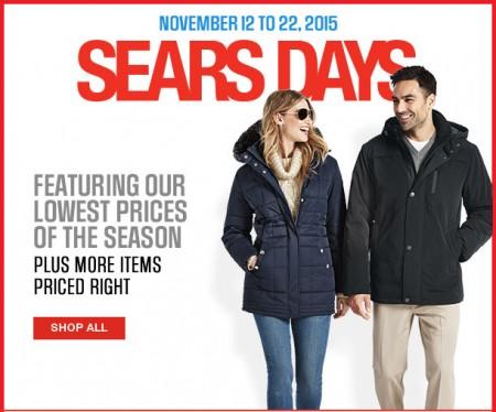 Sears Sears Days - Lowest Prices of the Season (Nov 12-22)