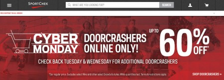 Sport Chek Cyber Monday Sale - Up to 60 Off Doorcraher Deals + Free Shipping on All Orders (Nov 30 - Dec 2)