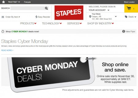 Staples Cyber Monday Deals (Nov 30)