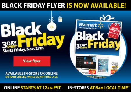 Walmart Black Friday Flyer is available now (Nov 27-29)