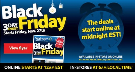 Walmart canada black friday 3 day event nov 27 29 for Las vegas hotels black friday deals