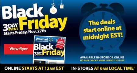 Walmart Canada Black Friday 3-Day Event (Nov 27-29)