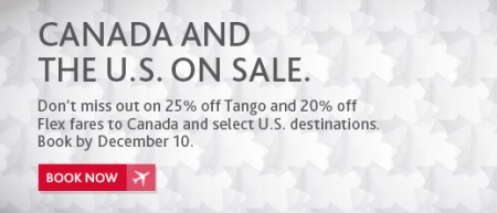 Air Canada Promo Code - Canada and USA Seat Sale (Book by Dec 10)