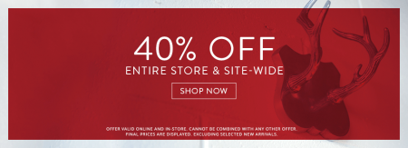 Bench 40 Off Entire Store & Site-Wide