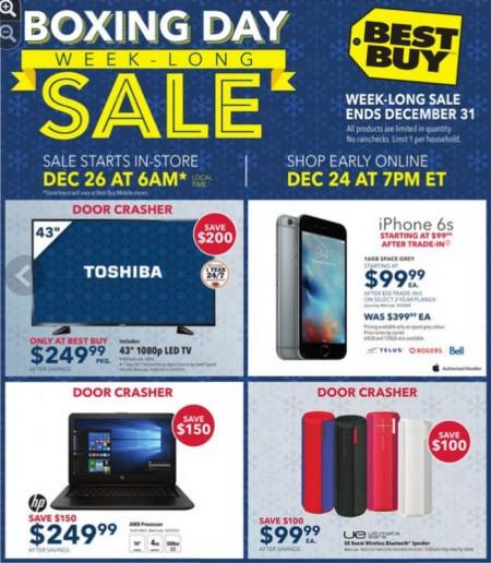 Best Buy Sneak Peek at Boxing Day Sale Flyer (Dec 24-31)
