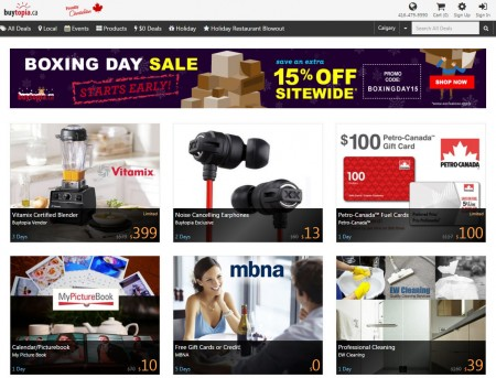 Buytopia Boxing Day Sale - Extra 15 Off Sitewide Promo Code (Dec 26)