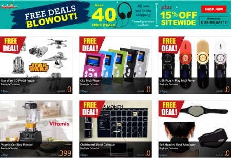 Buytopia.ca Free Deals Blowout + 15 Off Sitewide Promo Code