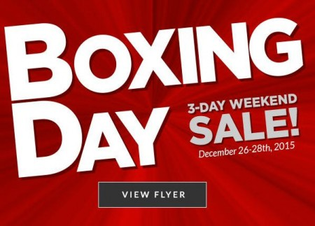 Canadian Tire Boxing Day 3-Day Weekend Sale (Dec 26-28)