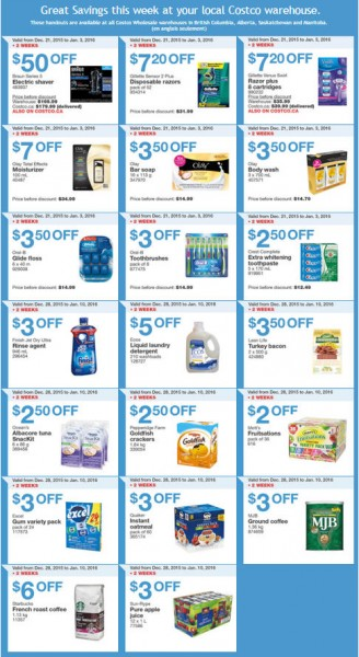 Costco Weekly Handout Instant Savings Coupons West A (Dec 28 - Jan 3)