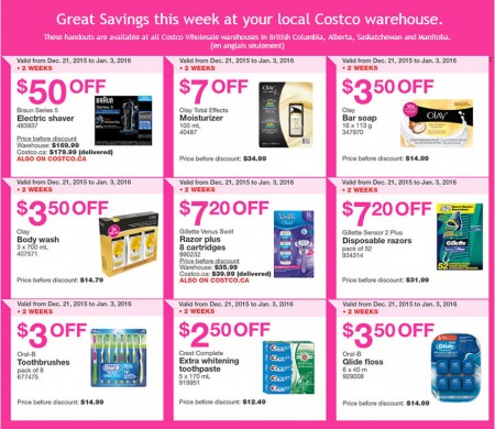 Costco Weekly Handout Instant Savings Coupons West (Dec 21 - Jan 3)