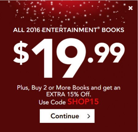Entertainment Book - All Coupon Books only $19 + Free Shipping (Save up to 62 Off)