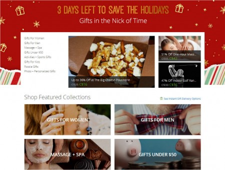 GROUPON 3 Days Left to Save - Instanley Gift Groupon at up to 50 Off (Dec 22)