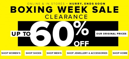 Hudson's Bay Boxing Week Sale Clearance - Save up to 60 Off
