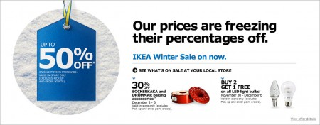 IKEA Winter Sale - Save up to 50 Off Select Items Storewide (Until Jan 4)
