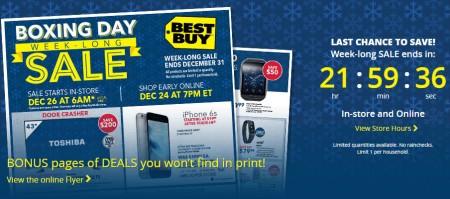 Last Chance Best Buy Week-Long Boxing Week Sale(Dec 24-31)