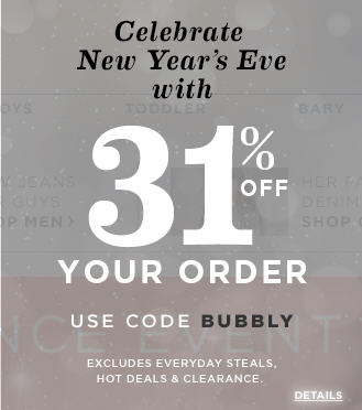 Old Navy New Years Eve Sale - 31 Off Your Order Promo Code (Dec 31)