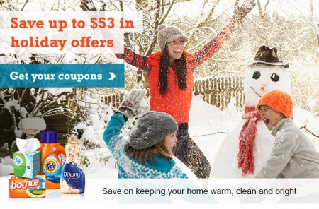P&G brandSAVER Save up to $53 in Holiday Coupon Offers
