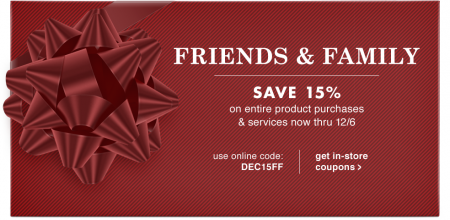 PetSmart Friends & Family Event - 15 Off Entire Product Purchase & Services Coupon (Dec 3-6)