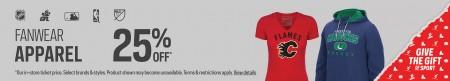 Sport Chek 25 Off NHL Jerseys and NHL Fanwear Apparel + Free Shipping All Orders (Until Dec 18) B