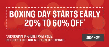 Sport Chek Boxing Day Sale Starts Now - Save 20-60 Off (Dec 19-28)