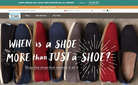 TOMS Shoes Boxing Day Sale - Free Shipping on All Orders (Dec 26)