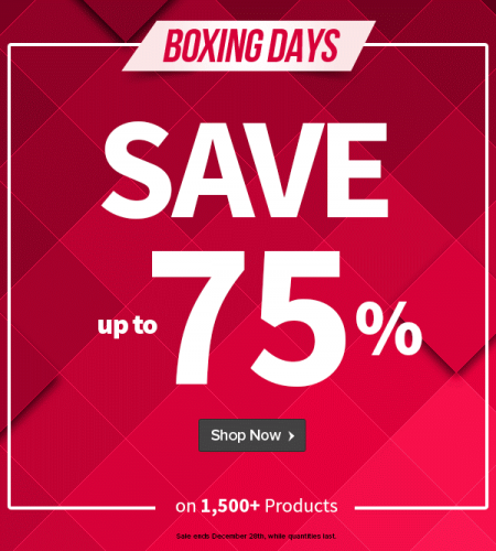 Well.ca Boxing Days Sale - Save up to 75 Off on 1,500+ Products (Dec 26-28)