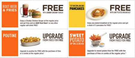 A&W Canada New Printable Coupons + Free Root Beer Coupon (Until Jan 17)