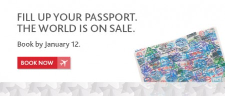 Air Canada The World is on Sale (Book by Jan 12)