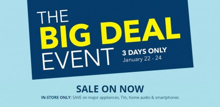 Best Buy The Big Deal Event (Jan 22-24)